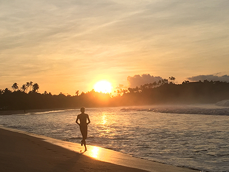 runner sunrise beach